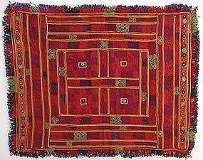 An embroidered cloth from Hazarajat, Afghanistan