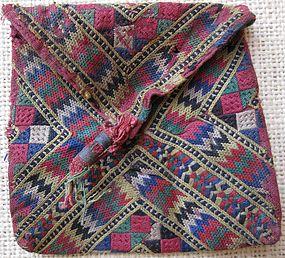 An embroidered purse from Baluchistan - circa 1960