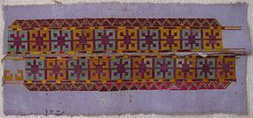 A pair of embroidered bands from northern Afghanistan