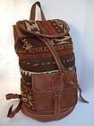 Uzbek leather kilim (ghudjeri) backpack