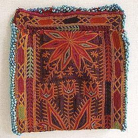A vintage Pashtun beaded purse