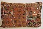 A Sindhi rilhi cushion, mid 20th century