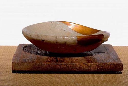 A Small Karatsu Dish with Gold Repairs