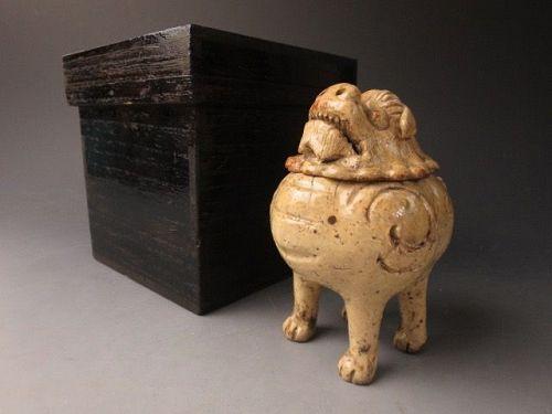 A Momoyama Period ki-Seto Shishi Koro