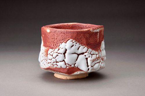 A Shino Tea Bowl by Kato Toyohisa