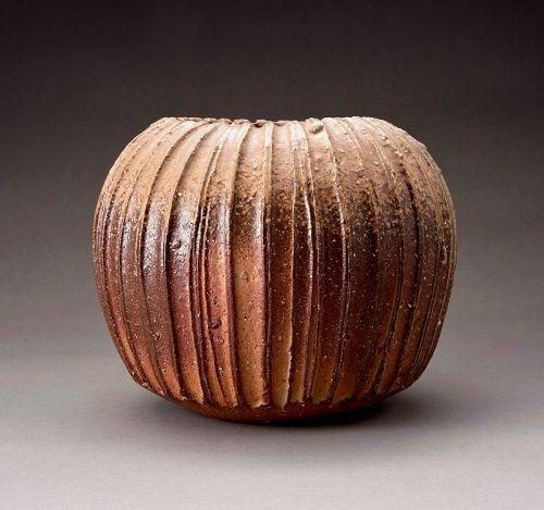 A Bizen Flower Pot by Isezaki Koichiro
