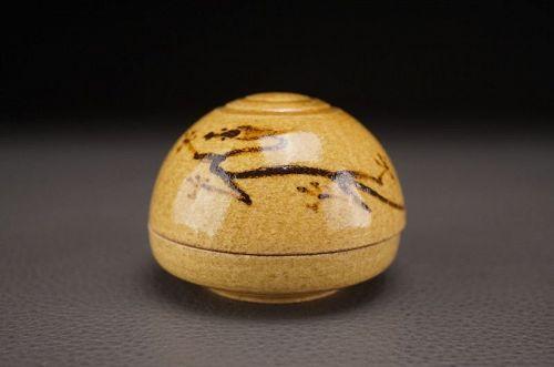 A Dragon Kogo (Incense Caddy) by Suwa Sozan II