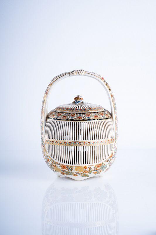 A Japanese Satsuma of a cricket cage