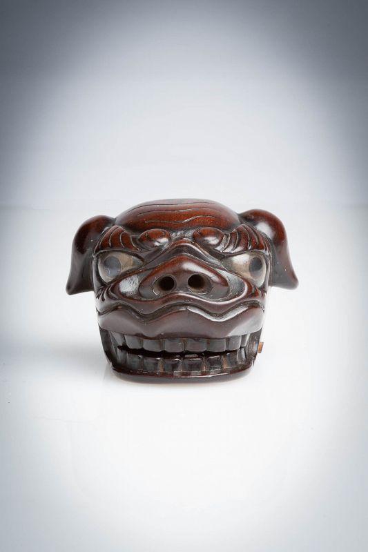 Munenaga - A Japanese mask of a shishi