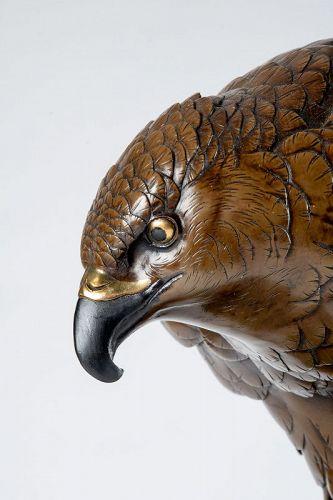 K�min �� - A Japanese bronze falcon