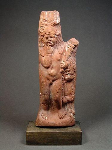 Egyptian Terracotta Figure of Harpokrates, Roman Period, 200-250 AD