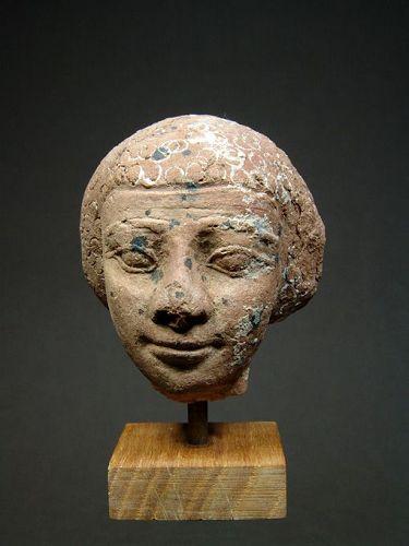 Egyptian Terracotta Head, Late Period, 664-332 BC