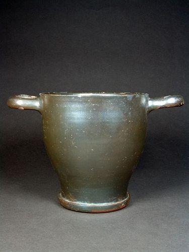 Apulian Silvery-glazed Skyphos, 300-280 BC