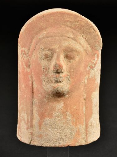 Western Greek Votive Head, Ex Cahn, 525-500 BC