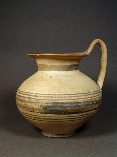 Apulian Messapian Bichrome Jug, 450-400 BC