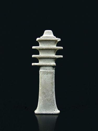 Large Egyptian Djed Pillar Amulet, 26th Dynasty, 664-525 BCE