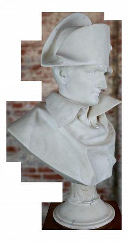 Napoleon Bonaparte Emperor - 19th Century Marble Bust