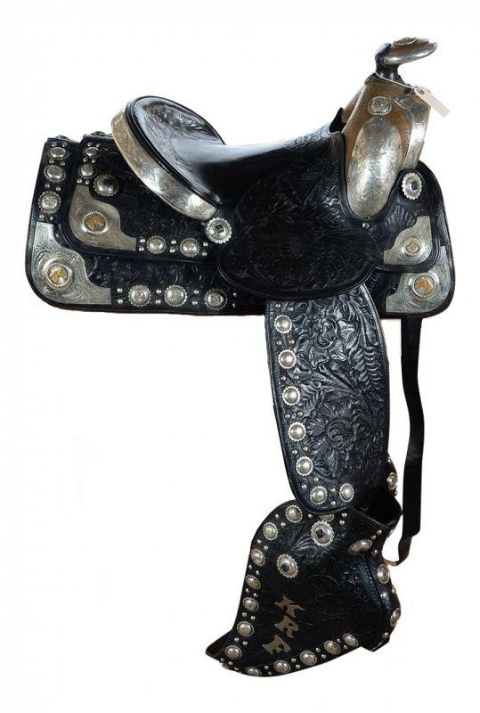 Olsen Nolte-Hand Tooled Leather Parade Saddle
