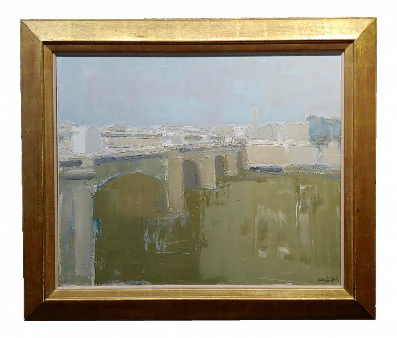 Roger Muhl Bridge Across the River Seine, Paris Oil Painting