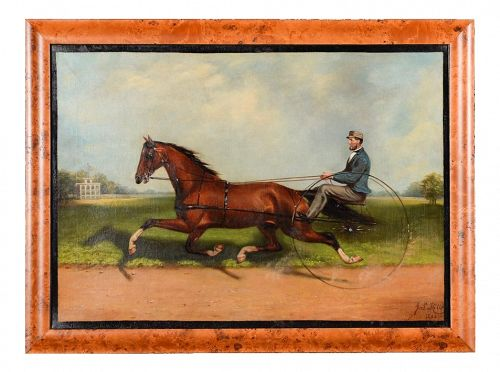 James Hill -19th Century Famous Horse Racing Oil Painting