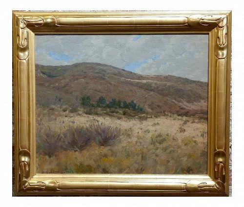 George Gardner Symons Hills at Laguna Canyon, California Impressionist Oil Painting