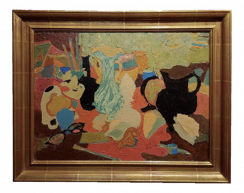 Mabel Alvarez -Abstract Still Life - Oil Painting