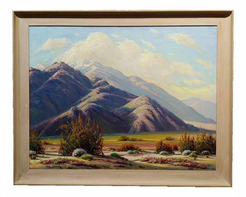 Paul Grimm - Stunning California Desert Landscape - Oil Painting