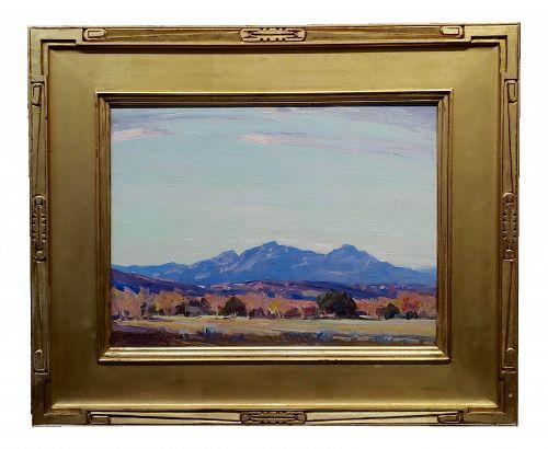 Carl Oscar Borg Early California Impressionist Ojay Valley Landscape-Oil Painting