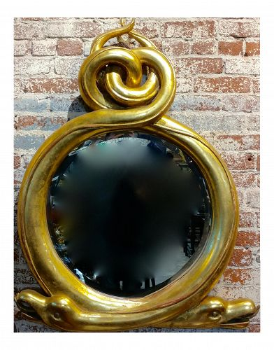 Vintage Regency Serpent Mirror