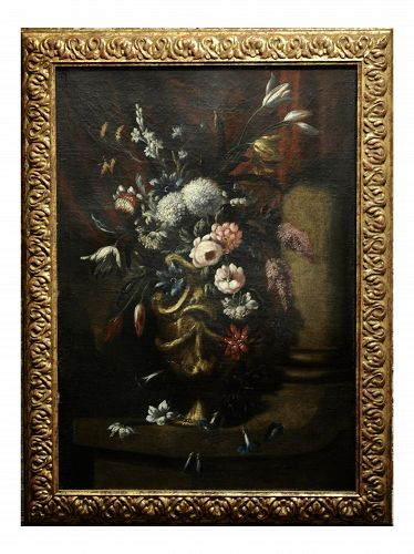 17th Century Floral Still Life Oil Painting by Jean Baptiste Monnoyer