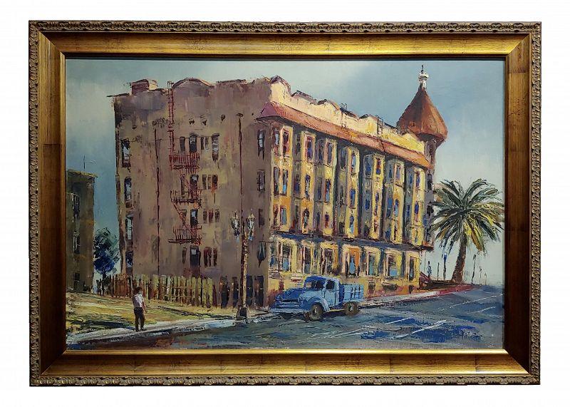 Ben Abril - the Minnewaska Hotel ,Bunker Hills, La -Oil Painting