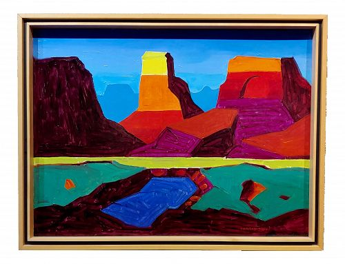 Conrad Buff - Monument Valley Landscape - Oil Painting