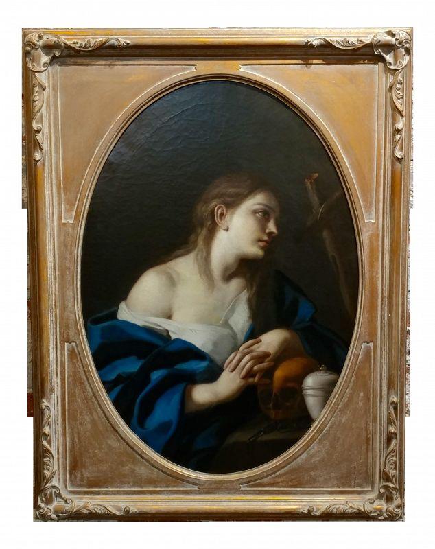 """""""Penitent Magdalene"""" Italian Old Master Oil Painting"""