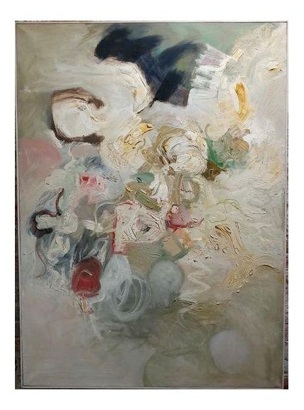 Joan Jacobs - 1959 Abstract Oil Painting