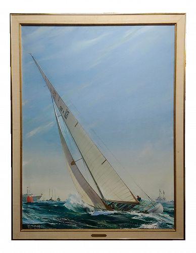 Kipp Soldwedel - Regatta Victory 1974 - Sailing Race Yacht - Oil Painting