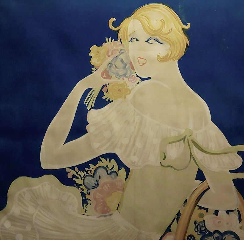 1928 Mistinguett French Poster by Zig Louis Gaudin
