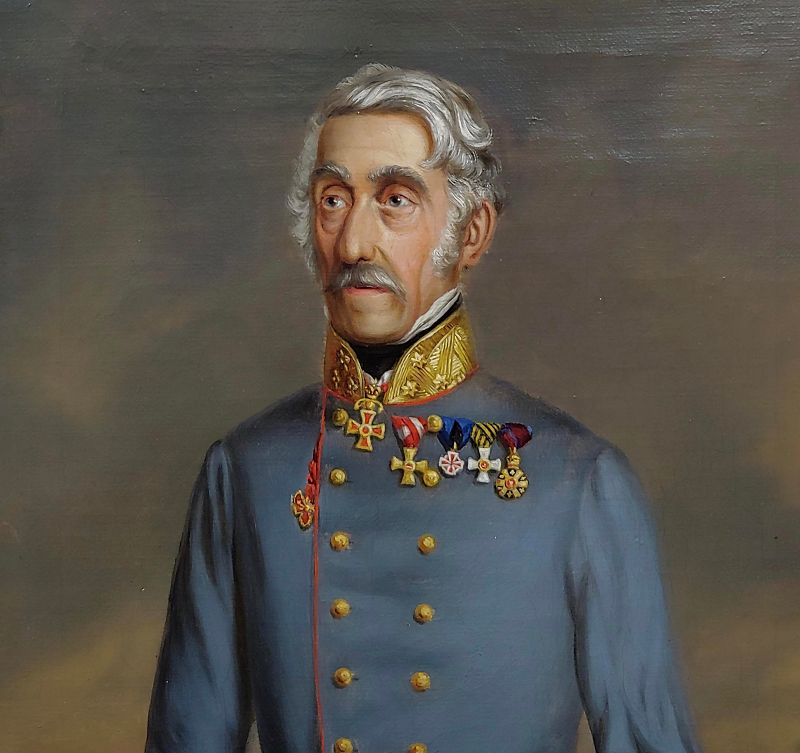 19th Century Oil Painting, Portrait of an Austrian General
