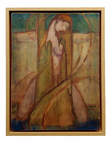 Marguerite Thompson Zorach - Nude Woman by the Sea - Original Painting