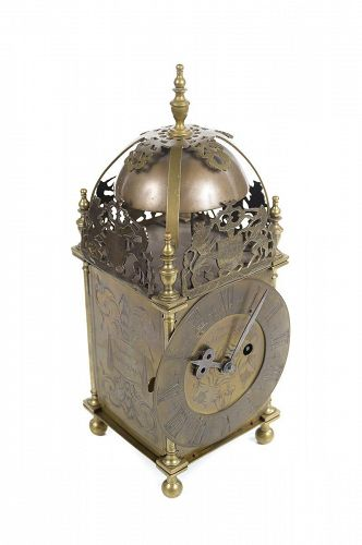 18th Century English Brass Lantern Clock