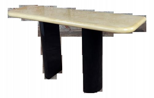 1960s Italian Mid Century Parchment Console Table