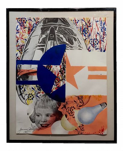 1965 Abstract Original Lithograph by James Rosenquist, Castelli Gallery Poster
