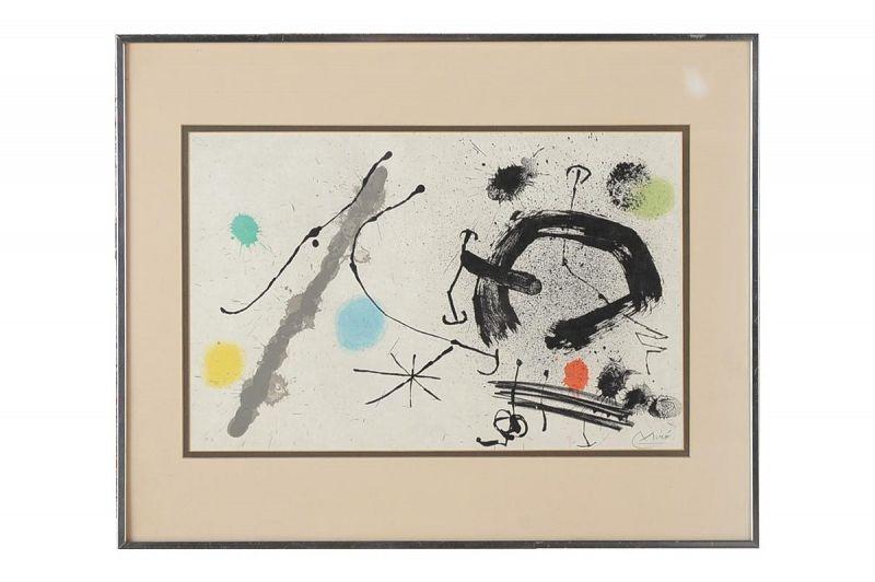 "Joan Miro ""Abstract"" Original Lithograph, Signed"
