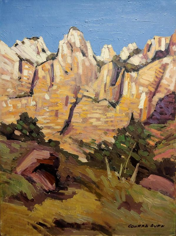 Conrad Buff- Rugged Cliffs Landscape -Oil Painting