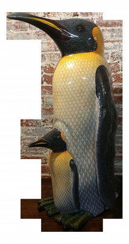 Mama Penguin & Baby Sculpture by Sergio Bustamante