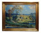 New England Country Side Landscape Oil Painting by Frederick Mortimer Lamb