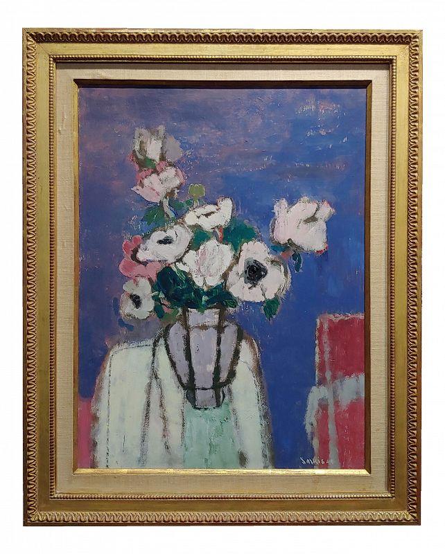 Sarkis Sarkisian -Still Life of White Flowers - Oil Painting