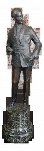 Bruno Zach - Elegant Gentleman -Beautiful Art Deco Bronze Sculpture-C.1930s