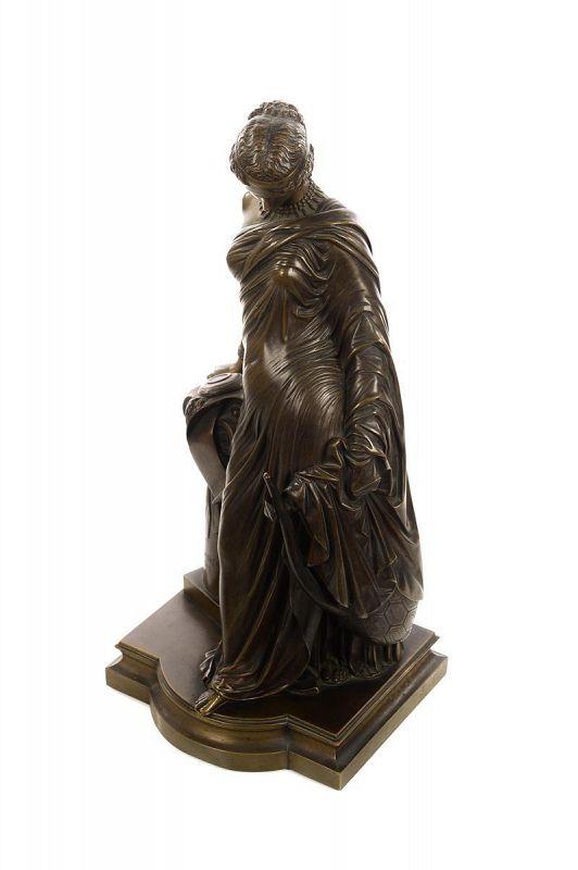 'Sapho a La Colonne' Bronze Sculpture