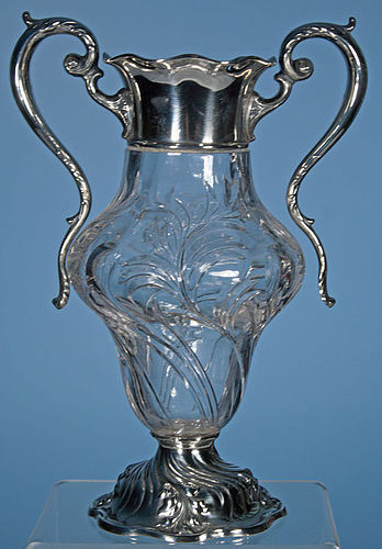Pairpoint Glass and Sterling Vase