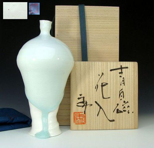Kato Tsubusa Celadon Vase